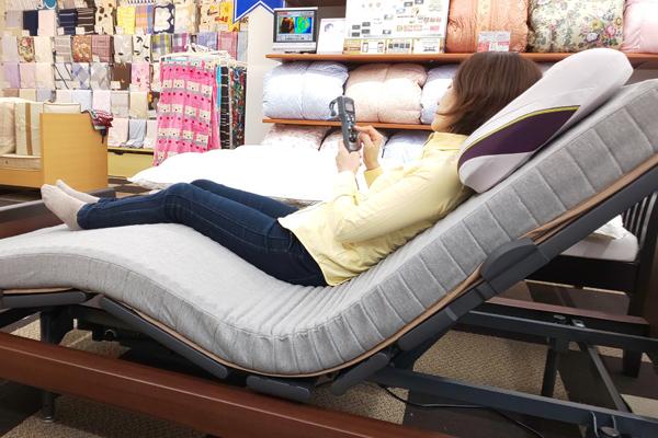 最新型や人気の寝具を体験できる!